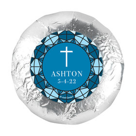 """Personalized Communion Stained Glass 1.25"""" Stickers (48 Stickers)"""