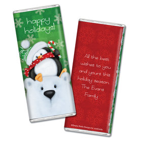 Personalized Christmas Hershey's Chocolate Bar & Wrapper with Gold Foil