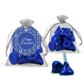 Hanukkah Hershey's Kisses in Organza Bags with Gift Tag