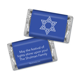 Personalized Hanukkah Hershey's Miniatures Wrappers Simple Star of David