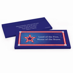 Deluxe Personalized Patriotic Star Candy Bar Cover