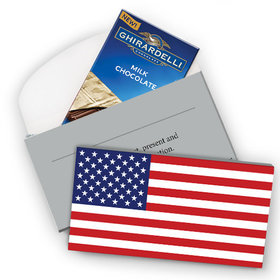 Deluxe Personalized American Flag Ghirardelli Chocolate Bar in Gift Box