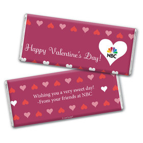Personalized Valentine's Day Add Your Logo Hearts Hershey's Chocolate Bar & Wrapper