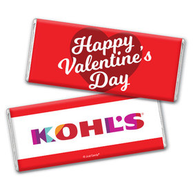 Personalized Valentine's Day Add Your Logo Classic Heart Hershey's Chocolate Bar & Wrapper