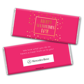 Personalized Valentine's Day Add Your Logo Floating Gold Hearts Hershey's Chocolate Bar & Wrapper