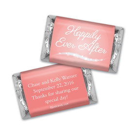 "Wedding Favor Personalized Hershey's Miniatures ""Happily Ever After"""