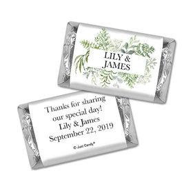 Personalized Wedding Hershey's Miniatures Wrappers Botanical Love