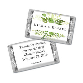 Personalized Wedding Hershey's Miniatures Botanical Greenery
