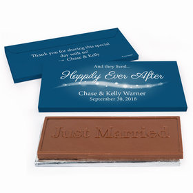 """Deluxe Personalized Wedding """"Happily Ever After"""" Chocolate Bar in Gift Box"""