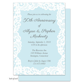 Bonnie Marcus Collection Lace Linen Anniversary Party Invitation