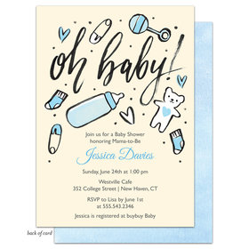 Bonnie Marcus Collection Personalized Baby Boy Icons Invitation