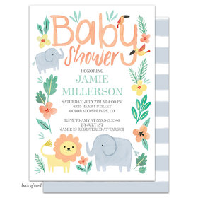 Bonnie Marcus Collection Personalized Safari Fun Invitation