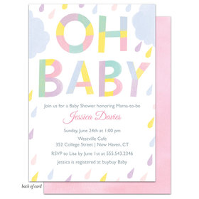 Bonnie Marcus Collection Personalized Pastel Shower Invitation