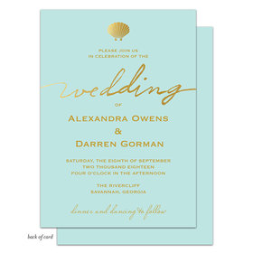 Bonnie Marcus Collection Personalized Stylish Shell Invitation