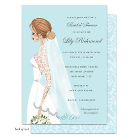 Bonnie Marcus Collection Personalized Vintage Veil (Brunette) Invitation