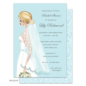 Bonnie Marcus Collection Personalized Vintage Veil Invitation