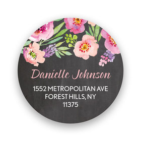 Bonnie Marcus Collection Watercolor Blossom Return Address Sticker