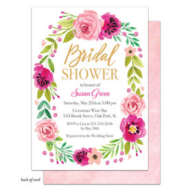 Bonnie Marcus Collection Personalized Watercolor Bridal Shower Blossom Invitation
