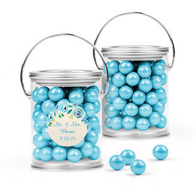 Personalized Wedding Favor Assembled Paint Can with Sixlets