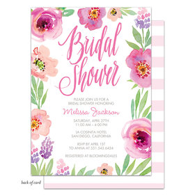 Bonnie Marcus Collection Personalized Watercolor Bridal Shower (White) Invitation