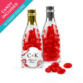 Personalized Rehearsal Dinner Favor Assembled Champagne Bottle with Just Candy Jelly Beans