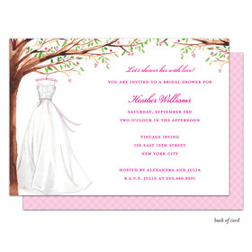 Bonnie Marcus Collection Personalized Wonderful Wedding Dress Invitation